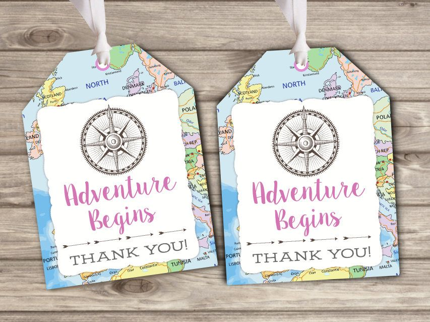 Gift tags adventure begins baby shower party favor map world thank gift tags adventure begins baby shower party favor map world thank you tags tt2990 gumiabroncs Gallery