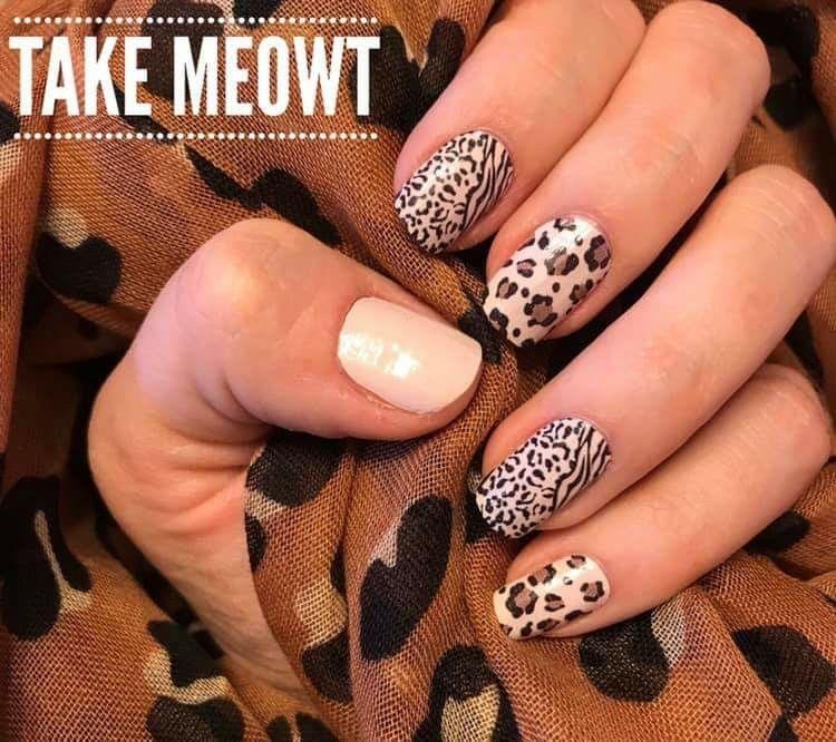 Wilde große Katze Nail Art