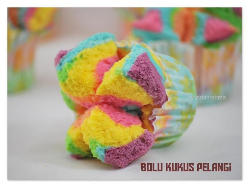 Resep Bolu Kukus Mekar Rainbow Kue Bolu Resep Kue