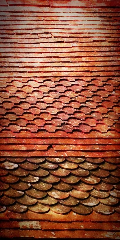 Original roof tiles patterns making minis how to for Roof tile patterns