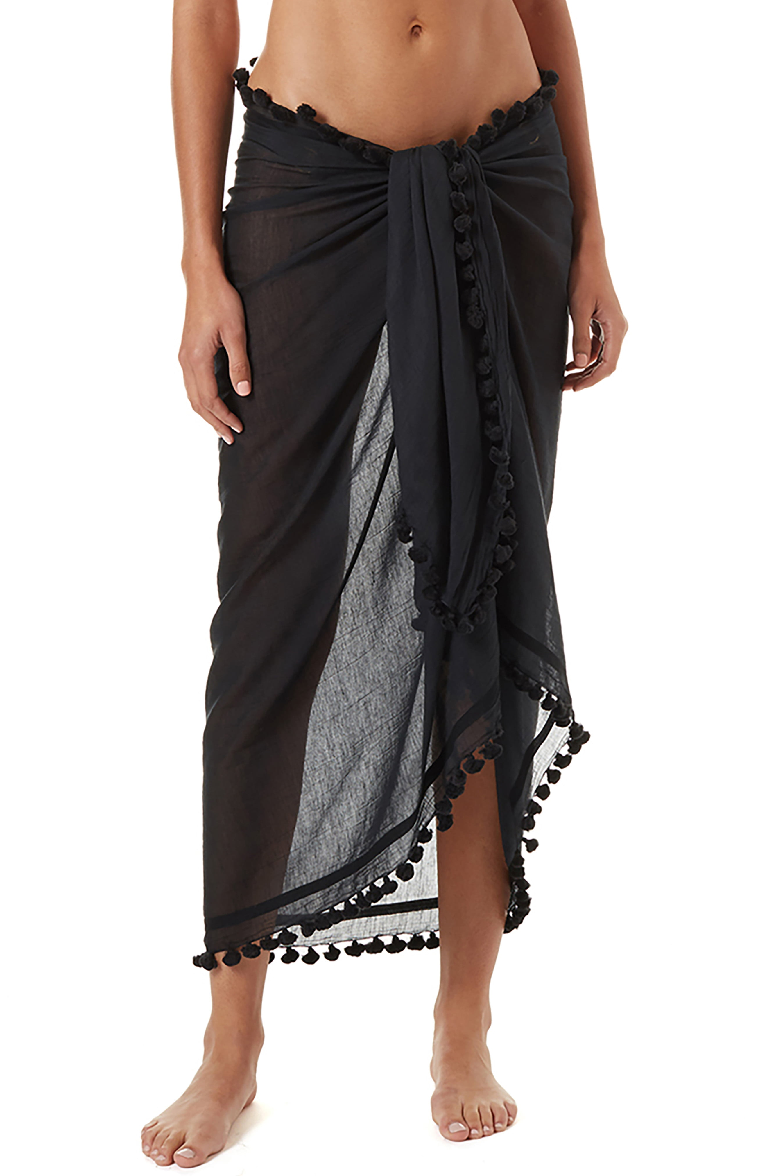 43369755046fcf Women's Melissa Odabash Tassel Cover-Up Pareo, Size One Size - Pink ...