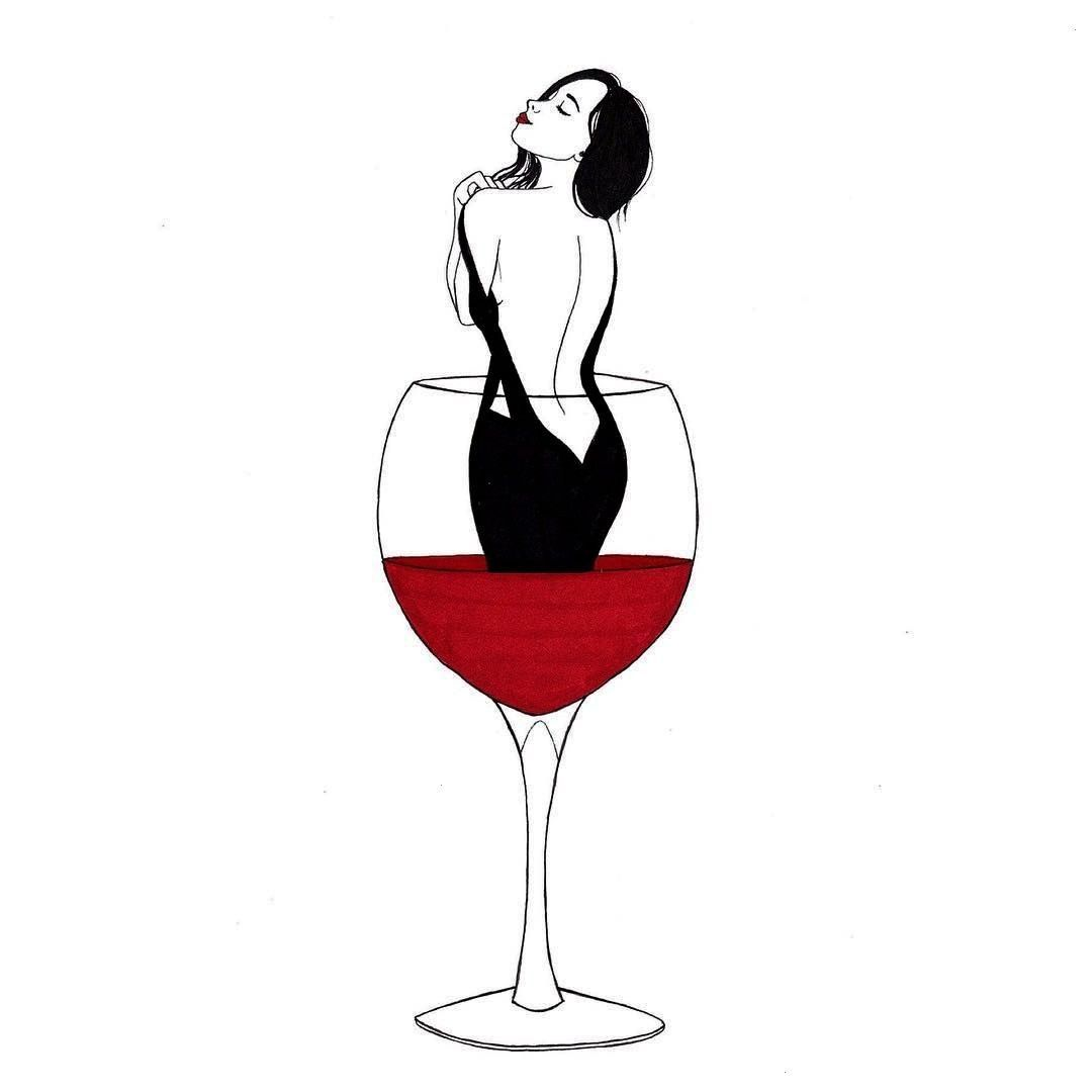 alcohol  Drowning in alcohol  Lovely Red Wine Art  Follow to learn more Cannonwine Jump in to wine Illustration Line illustration Download royaltyfree Talking red lips an...