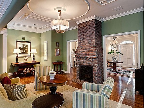 Brick Fireplace Living Room Wall Color Red Brick Fireplaces