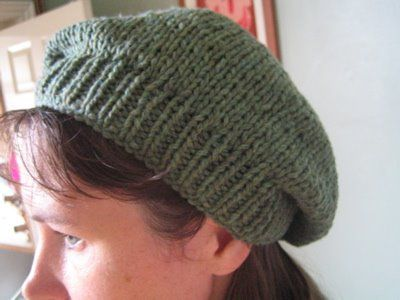A Basic Chunky Knit Beret Pattern Free Done On Straight Needles
