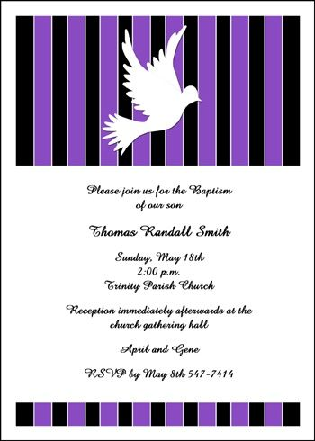 award winning baptism dove invitation cards for your baptismal