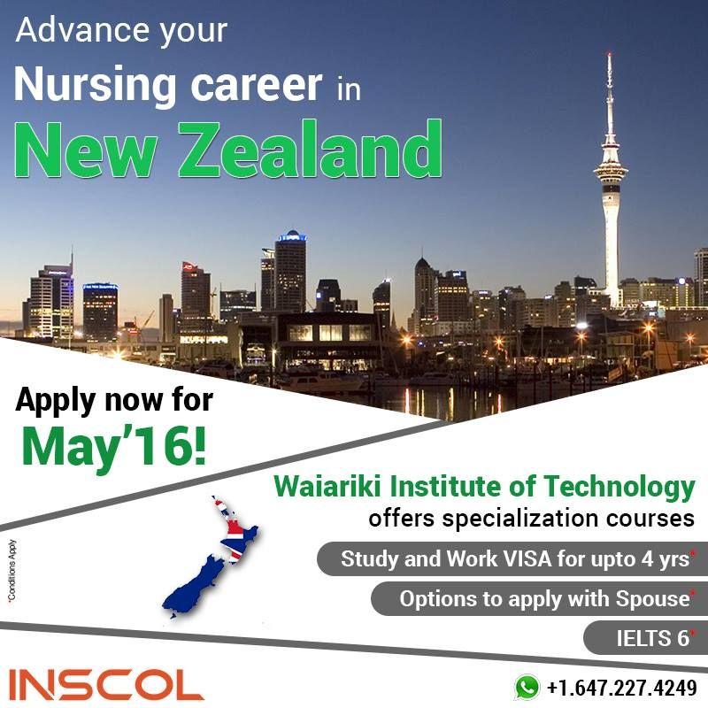 Great Opportunity for Nurses who wish to 'Study, Work and