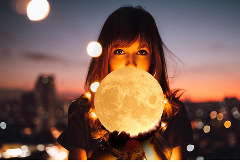 Magical 3d Printed Moon Lamp Nachtleuchte Mond Lampe Lampen