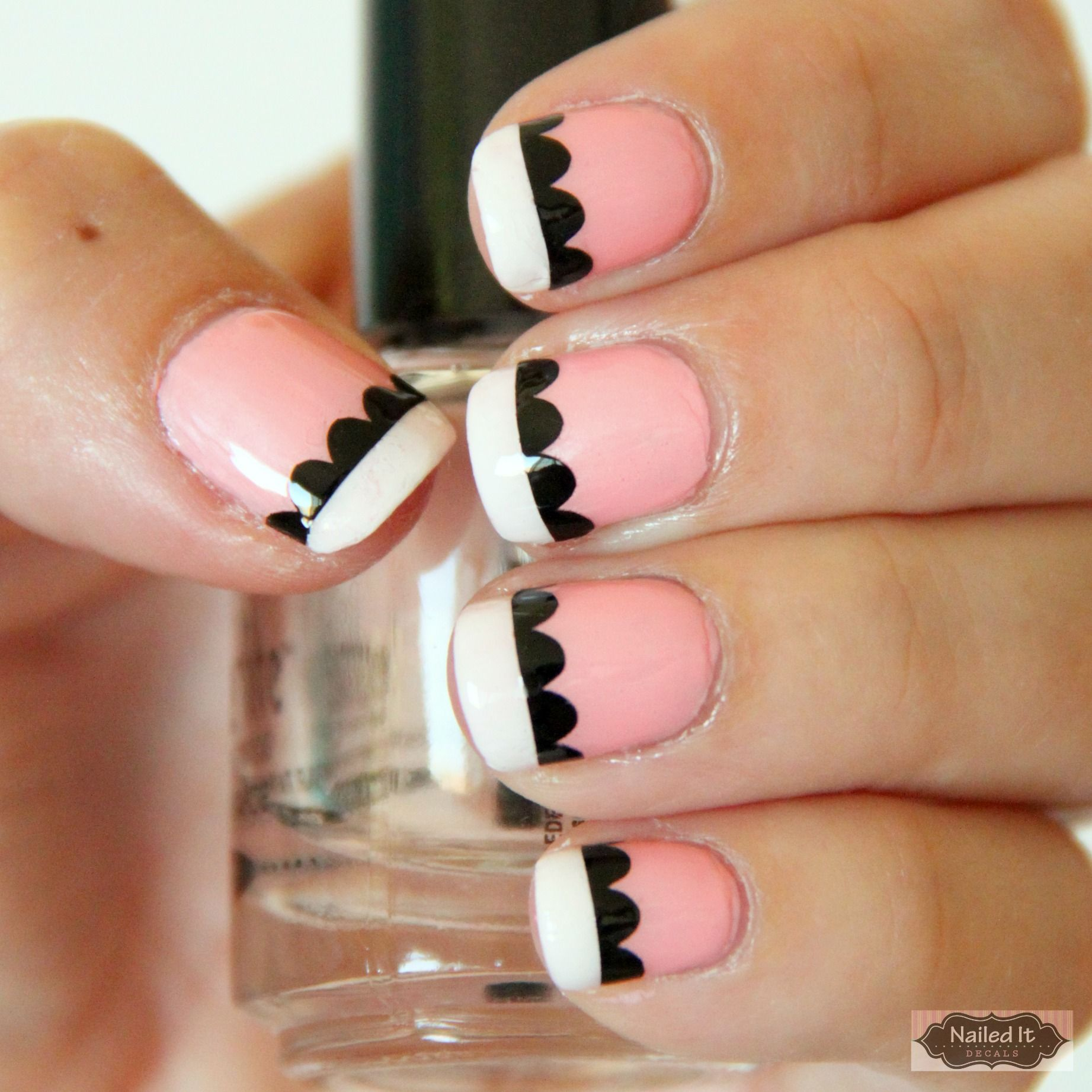 Nailed It Decals: Scallop Line Nail Decals | Nails | Pinterest ...