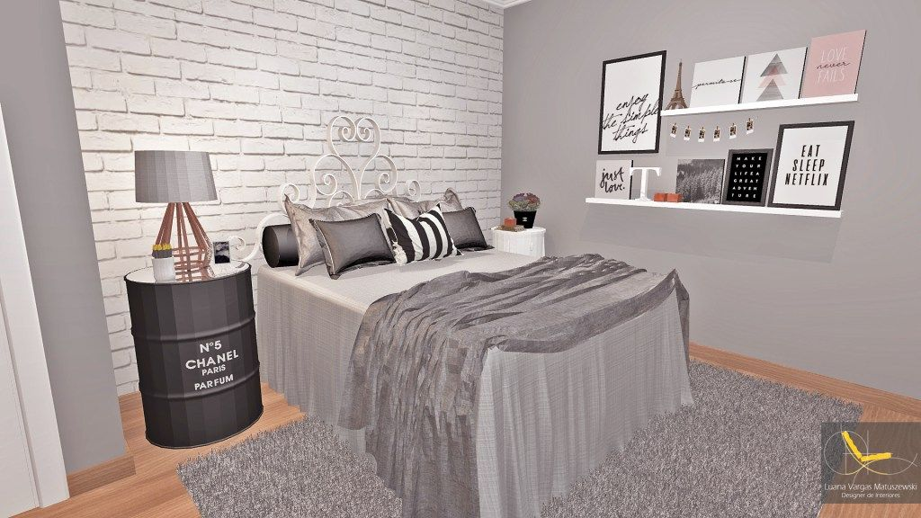 Preto, Branco, Cinza e Rose gold essa é a nova paleta de cores do meu quarto dos sonhos, co ...