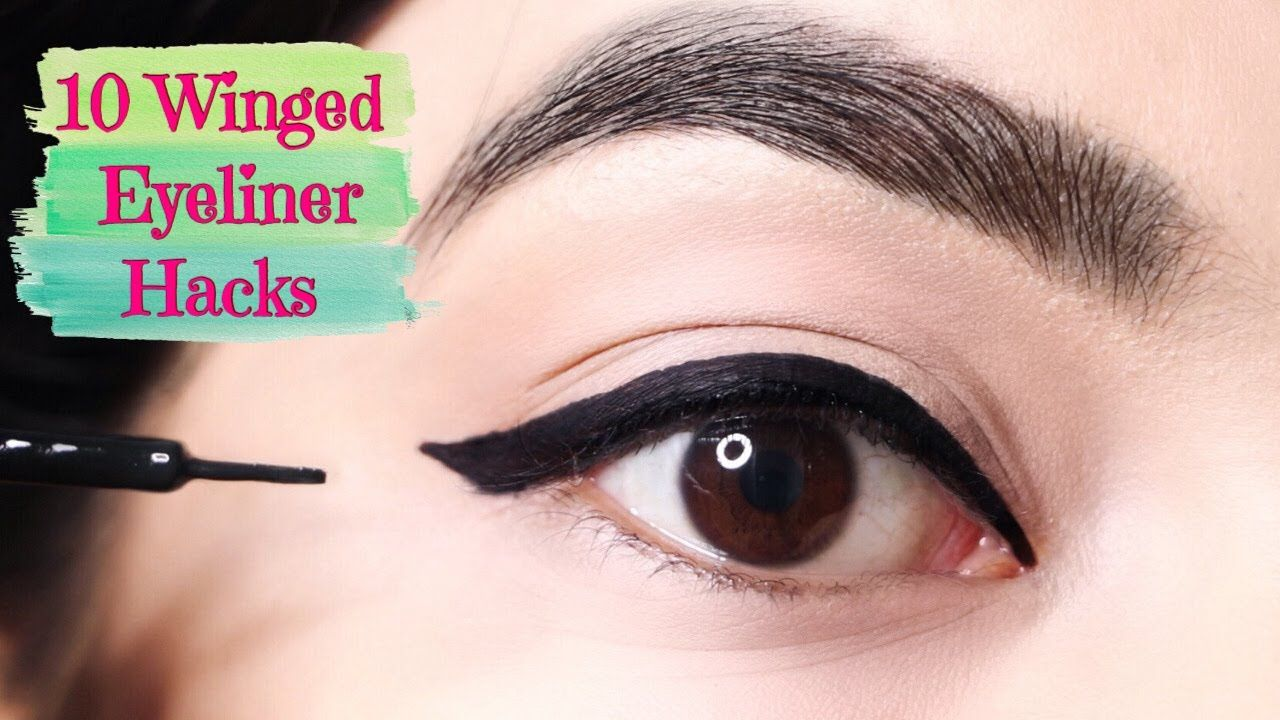 Use These TRICKS To Apply Perfect Wing Eyeliner  Top 10 Winged