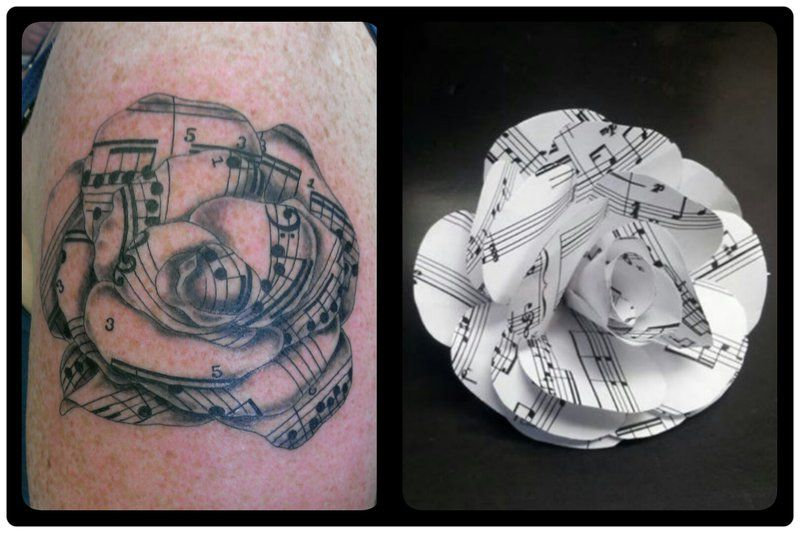 Sheet music rose tattoo by welcometoreality tattoos for Rose tattoo song