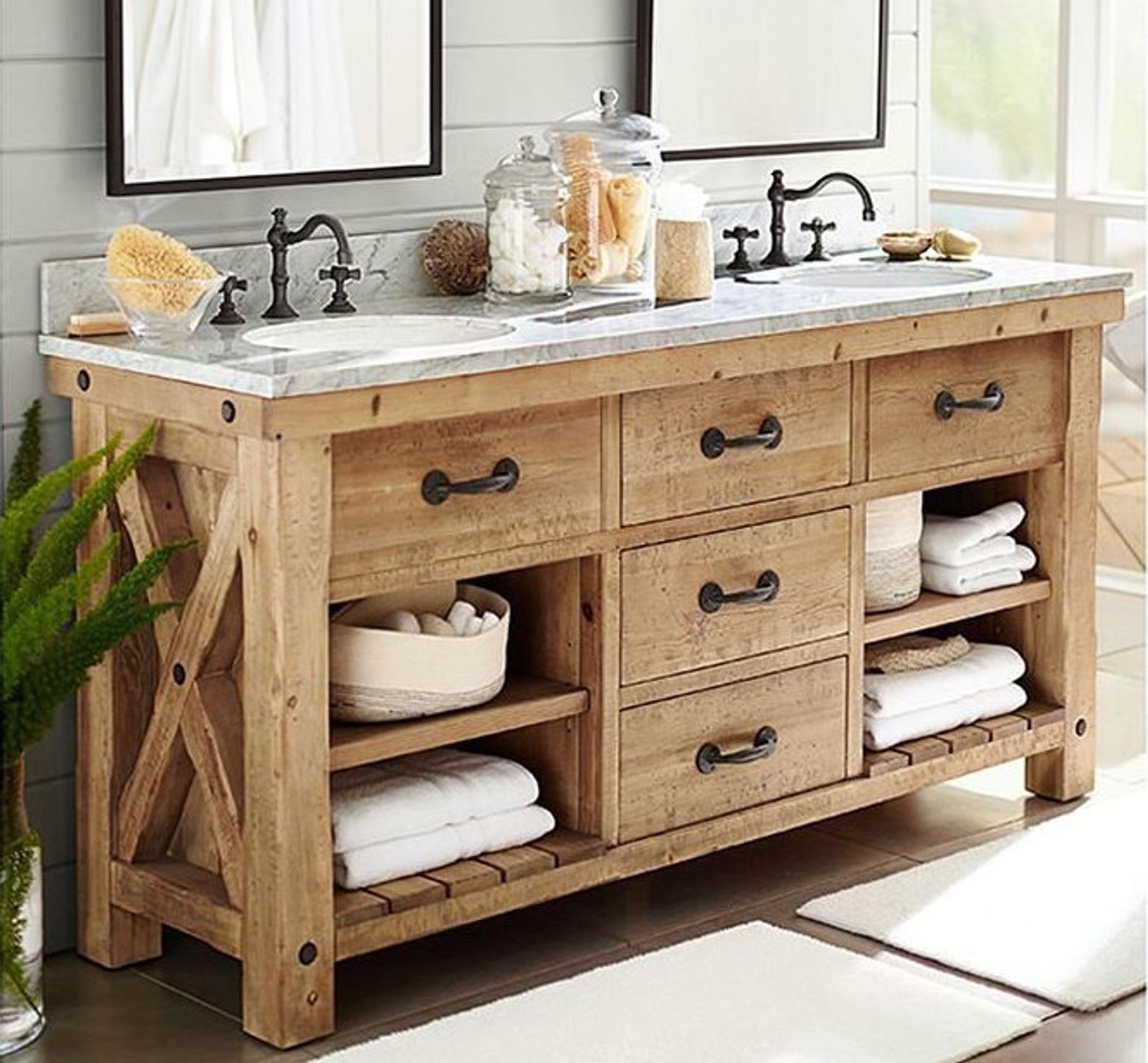 Double Sink Bathroom Vanity Etsy Double Sink Bathroom Vanity