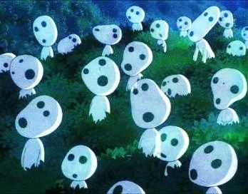 Tree Spirits From Princess Mononoke Princessa Mononoke