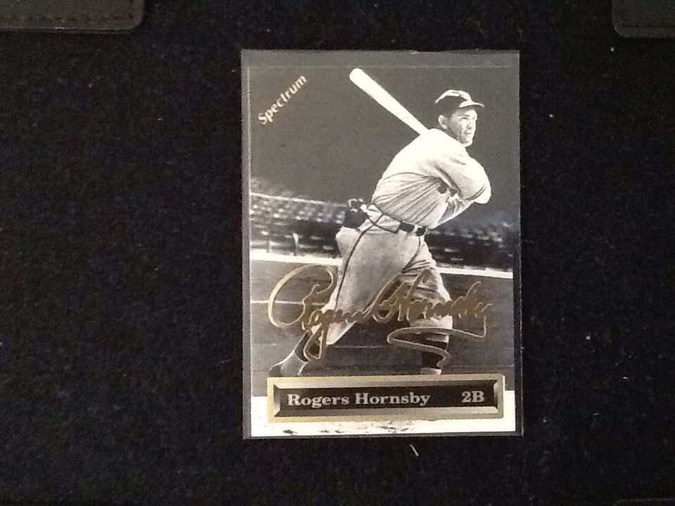 ENDING SOON 93' ROGERS HORNSBY Spectrum 24K Gold signature