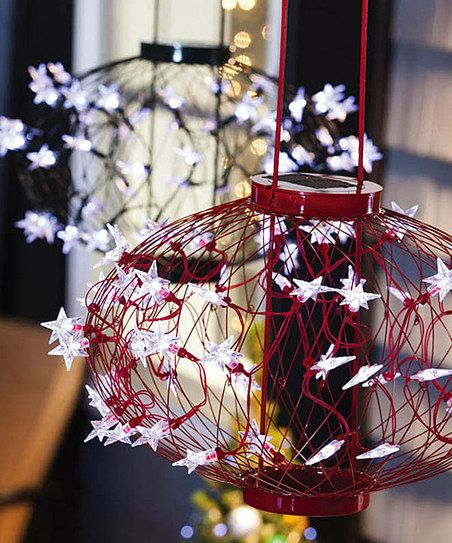 Solar Lighted Hanging Spheres Set
