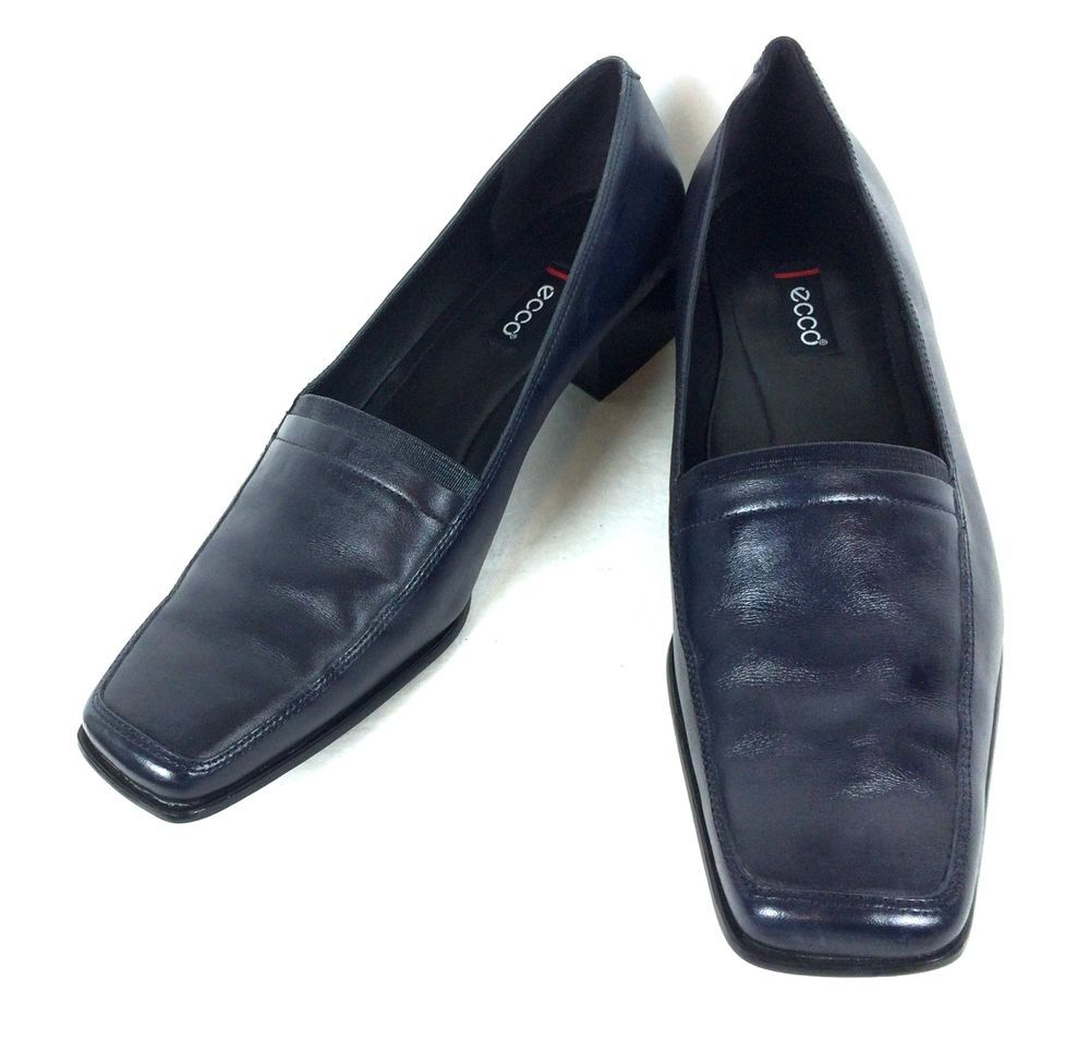 2eda70fb35 Ecco Shoes Womens Navy Blue Leather Comfort Loafers 11 42 #ECCO ...
