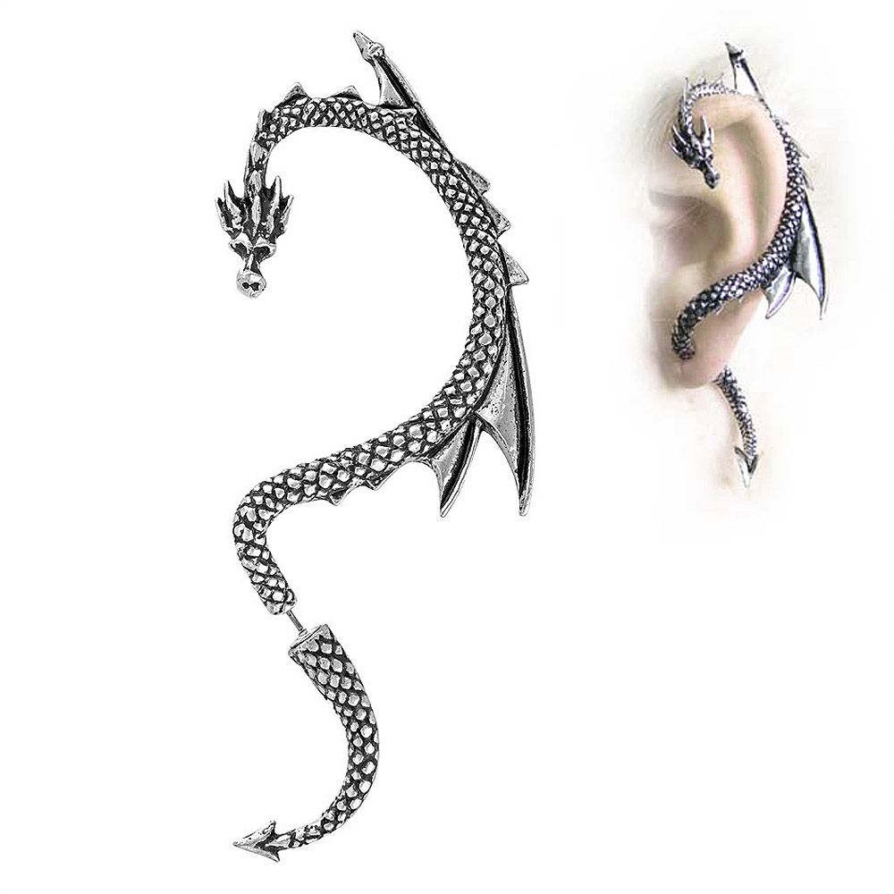 Alchemy Gothic (Metal-Wear) The Dragon's Lure Ear Wrap m5lush