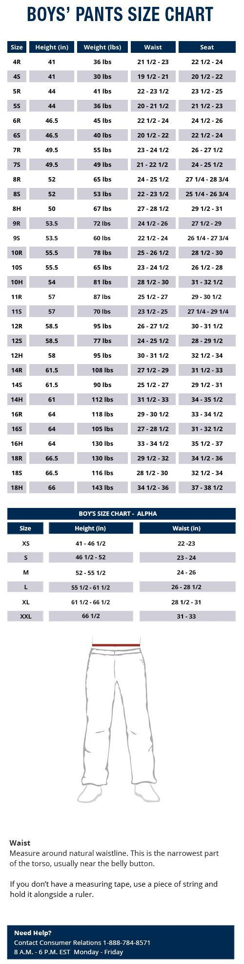 Wrangler Boys Jeans Pants And Shorts Size Chart Jeans Size Chart Size Chart Wrangler Jeans