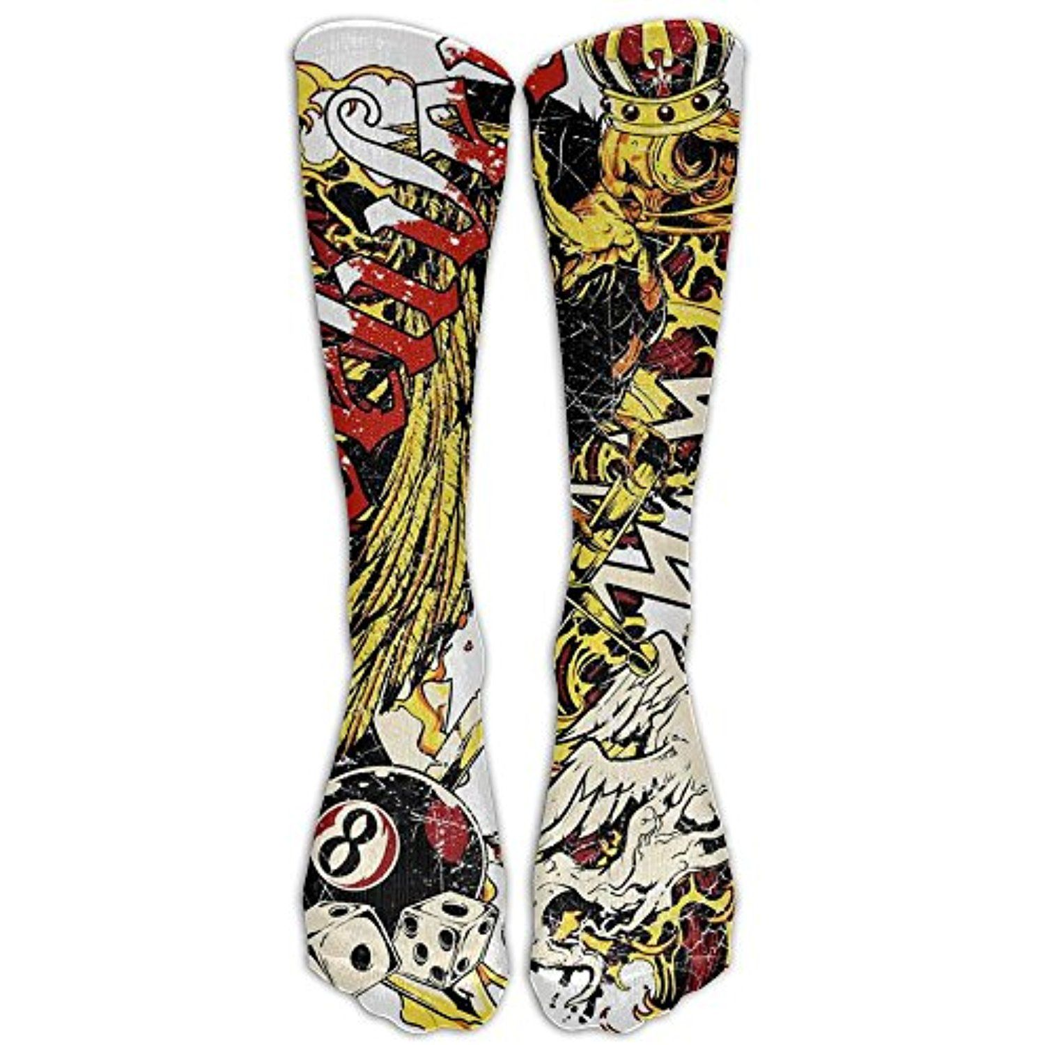 3535f8ae4ee New Tattoo Pattern Knee High Graduated Compression Socks For Women And Men  - Best Medical