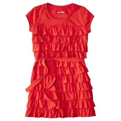 a273fc41ab8f Cherokee® Girls Short-Sleeve Ruffle Dress -.Opens in a new window ...