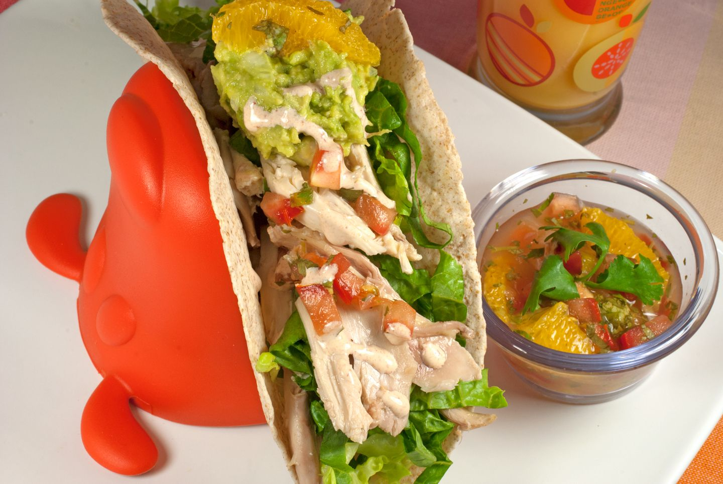 Easy chicken soft tacos the whole family will love. Prepare and serve or make them together as a family.