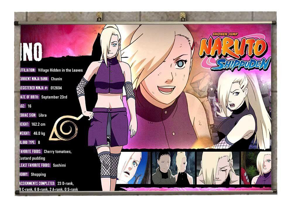 Canvas wall scroll poster anime naruto ino