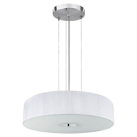 With its subtle design and white finish, this 3-light drum pendant fits effortlessly into any scheme. Let it enhance neutral decor or soften a vibrant palett...