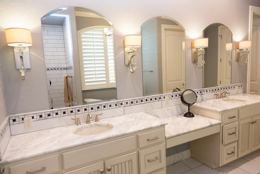 White Marble Bathroom Traditional Calcutta Marble Undermount - Bathroom countertops san antonio