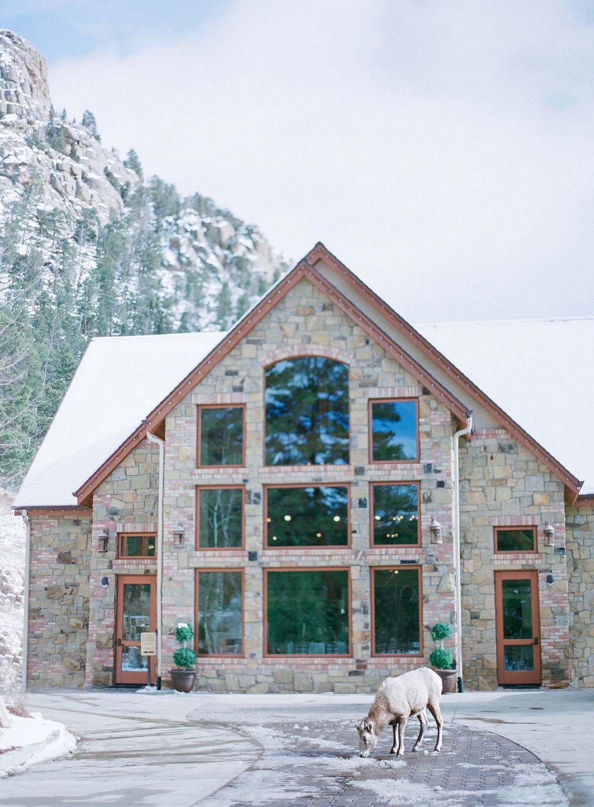 Kendall and grants snowy winter wedding colorado