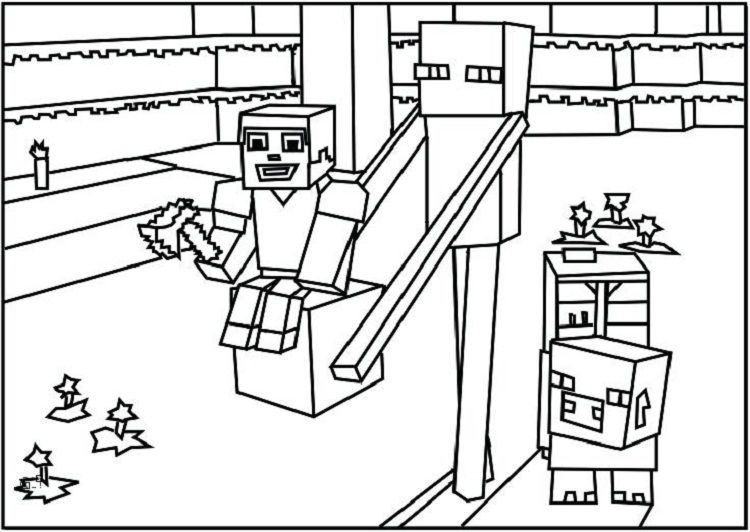 Minecraft Coloring Pages Printable Coloring Pages For Kids In 2018