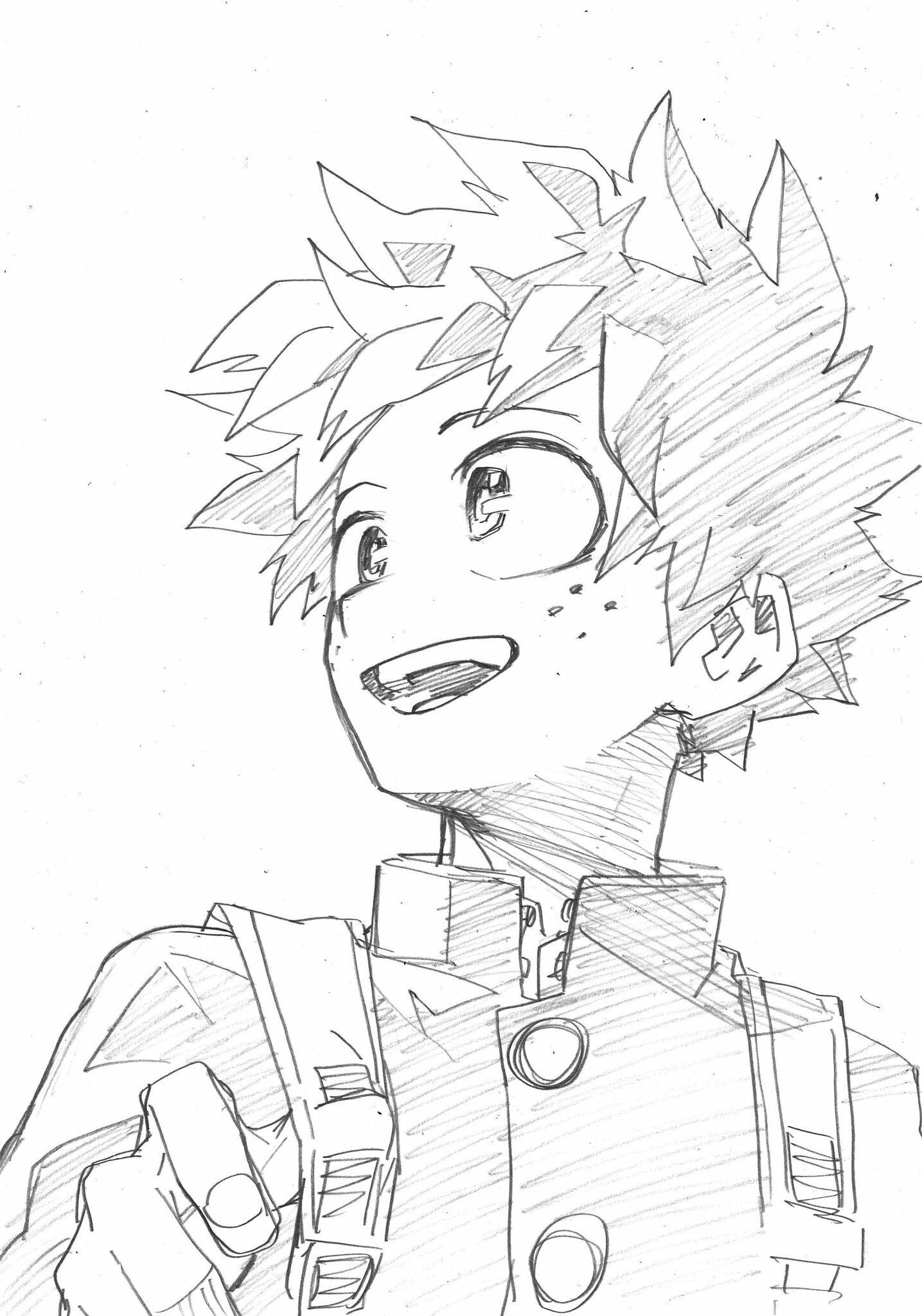 Boku No Hero Academia Coloring Pages Todoroki Lineart by ... | 2048x1435