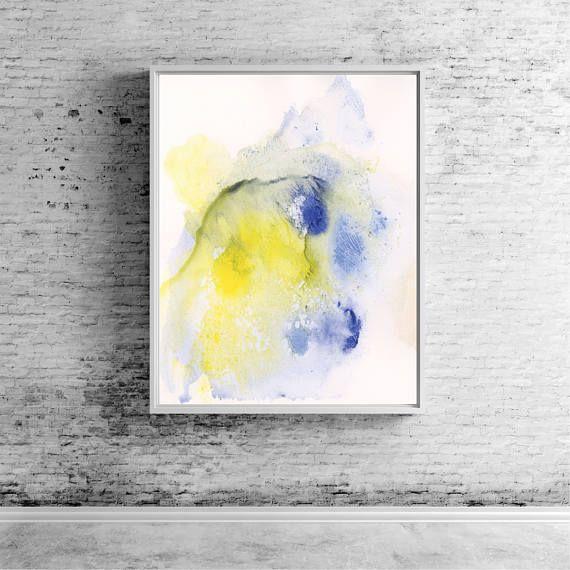 Large abstract painting canvas art print, abstract art wall art ...