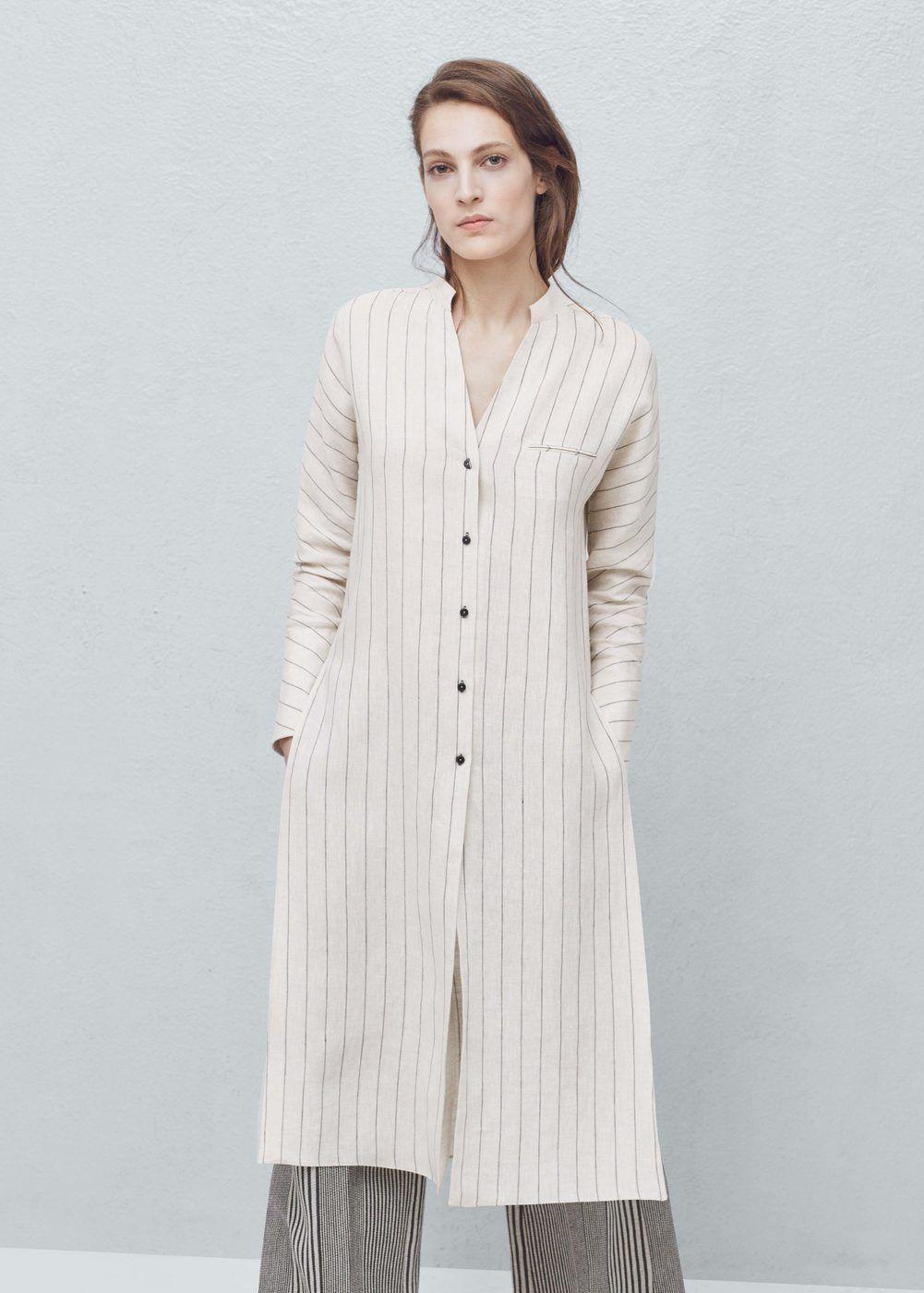 61f4157fdf9d6 Premium - blusón lino rayas - Mujer en 2019 | blusas | Blusones ...