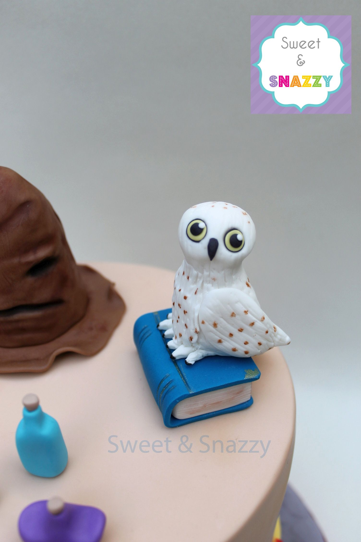 Hedwig Cake Topper Owl Cake Topper Fondant Owl By Sweet