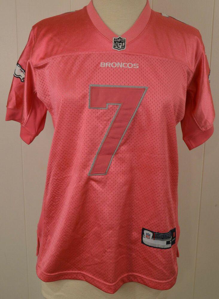 Women s Reebok Denver Broncos Jersey  7 John Elway Pink Sewn NFL Authentic   Reebok  DenverBroncos 2fa20ac2c