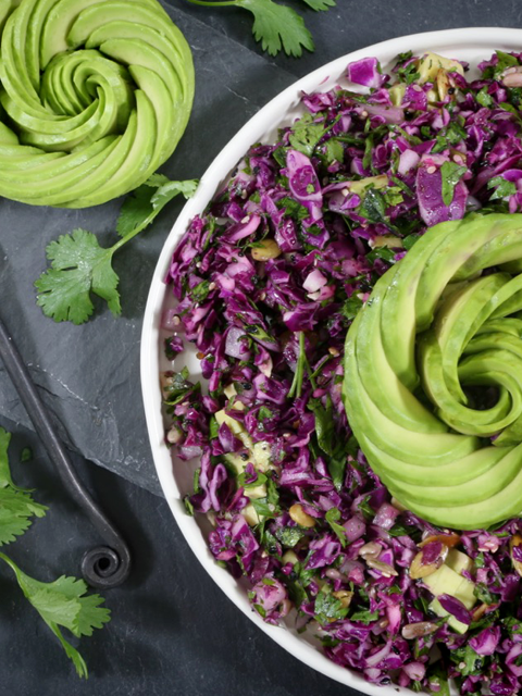 Purple Cabbage And Parsley Salad Great For Liver Support Parsley Salad Raw Food Recipes Purple Cabbage Recipes