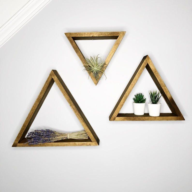 Pine Triangle Shelves Wooden Triangle Shelf Individual Or Set