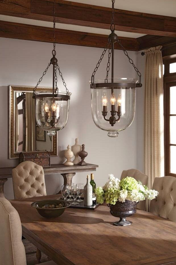 Farmhouse Dining Room  Dining Rooms  Pinterest  Room Lights Delectable Kitchen Lights Over Table Inspiration