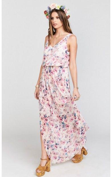Kendall Maxi Dress Wedding Shoes Fl Show Me Your Mumu