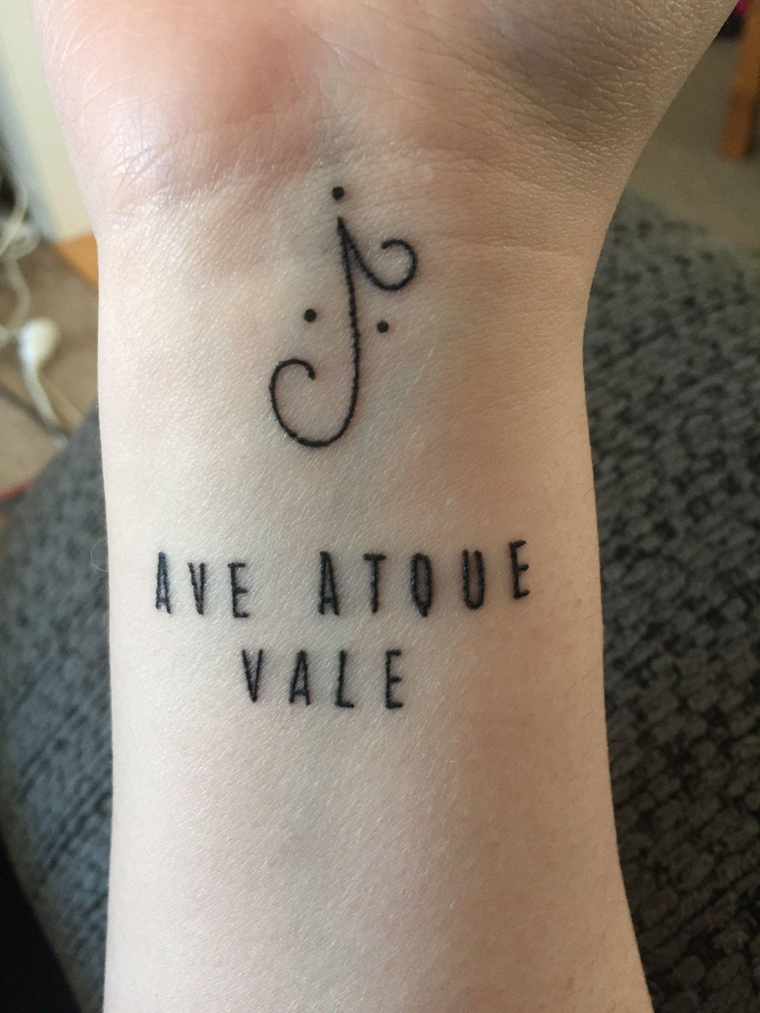 Ave atque vale tattoo