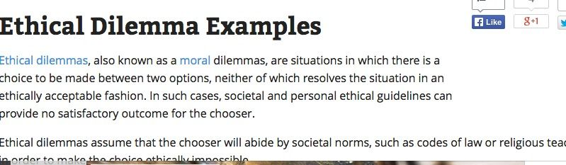 Ethical Dilemma Examples | Life Management Stuff | Decision