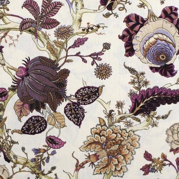 franz sischer vorhang u polsterstoff villars aubergine beige meterware 280 cm breit. Black Bedroom Furniture Sets. Home Design Ideas