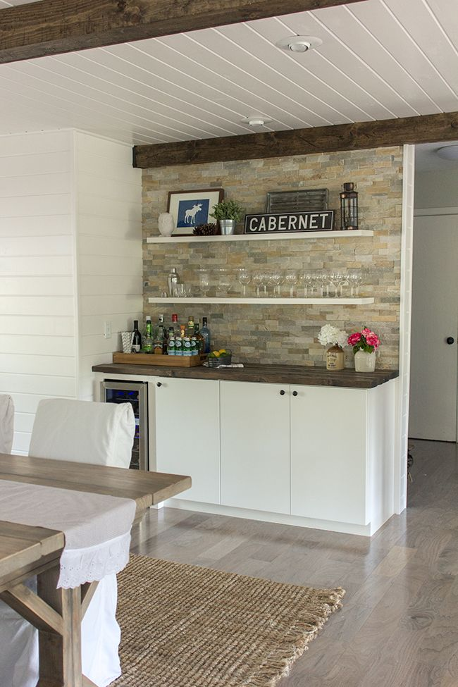 New Ikea Wet Bar In Basement