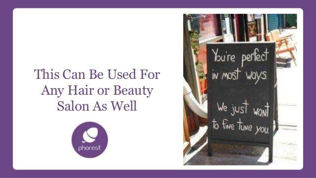 hair salon advertising examples