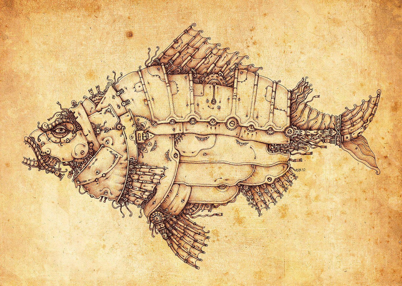 Рисунки механические животные
