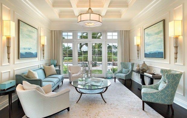 Blue Bayou Living Room By Bay Design Naples FL