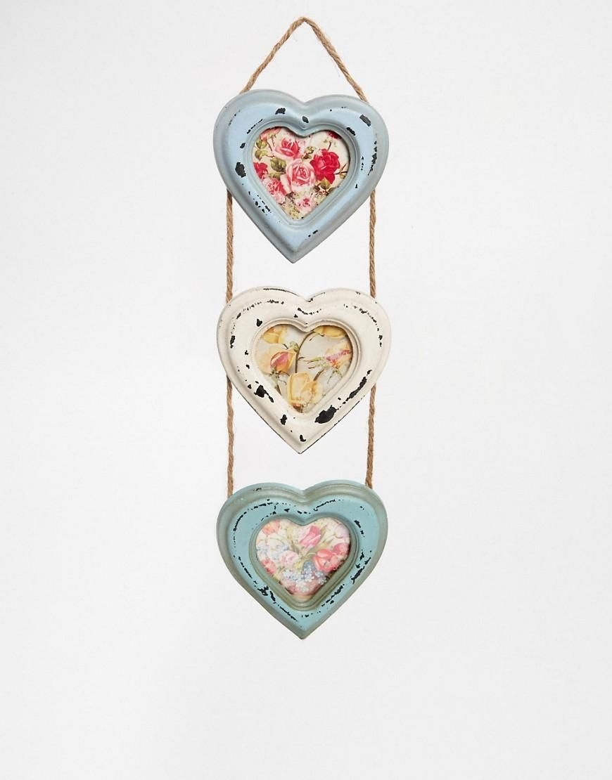 Sass & Belle | Sass & Belle Triple Heart Small Photo Frame at ASOS ...