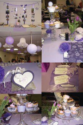 Purple Bridal Shower Decorations Ideas