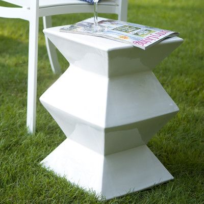 Emissary Zigzag Garden Stool & Reviews | Wayfair | Ceramic ...