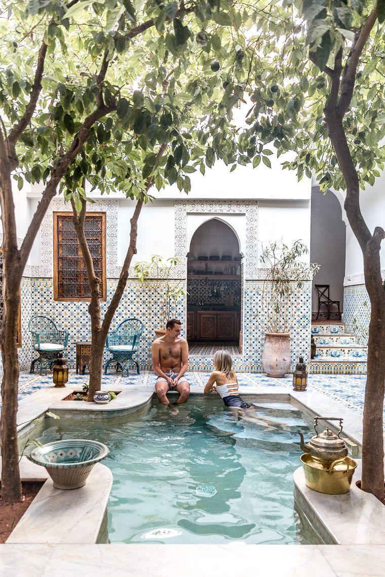 3ed12f237094 Riad Yamina pool in Marrakesh Morocco via Finduslost